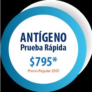 ANTÍGENO PRUEBA RÁPIDA - $795