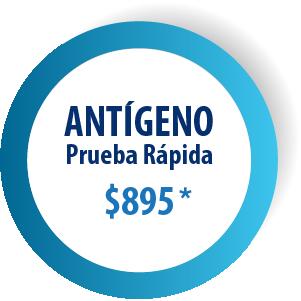 ANTÍGENO PRUEBA RÁPIDA - $895